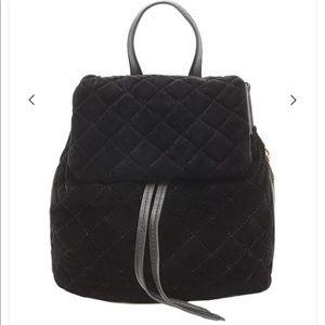 Quilted Velvet Backpack NWT
